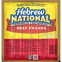 Hebrew National Beef Franks, 10.3 Ounce, 6 Count