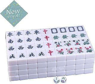 ECHOV Mahjong Automatic Mahjong Machine Large Mahjong Brand Magnetic Household Chess and Card Room Mahjong Puzzle Leisure Entertainment Game (Color : Lantian Jade, Size : 4.2cm144)