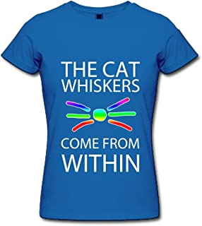 Women's Dan and Phil Cat Whiskers Poster Tee New Style Purple