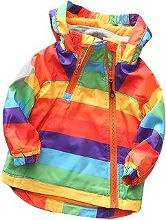 Muzboo Boys' Girls' Colorblock Water Resistance Windbreaker Zipper Hooded Jacket