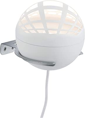 Paulmann 79697 lampe à poser LED Favia rond incl. 1x5watts lampe de chevet Blanc Luminaire à poser plastique Blanc chaud 2700 K
