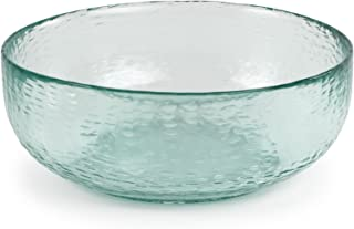 Spanish 100% Recycled Glass Small Incised Salsa Bowl, Set of 2 - 6.75