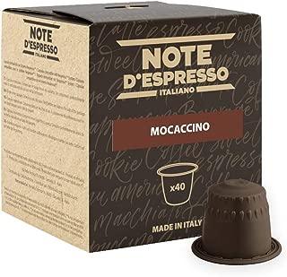 Note D'espresso Mocaccino, Capsule per mocaccino istantaneo, 4,3 g x 40 capsule