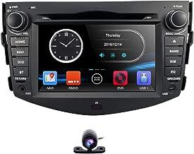 hizpo in Dash Car DVD Player GPS Navigation Radio BT Stereo for Toyota RAV4 2006-2012 Reverse Camera