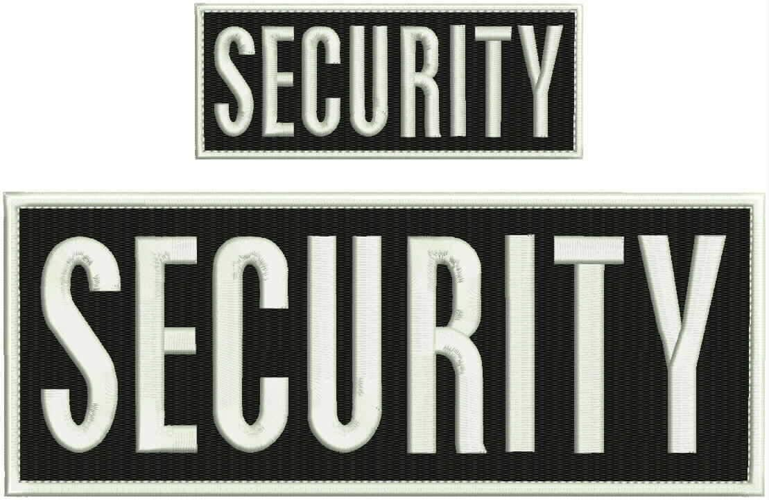 Security Embroidery Patch 4X10 It is very popular and Hook White Border Sales for sale Square 2.x5