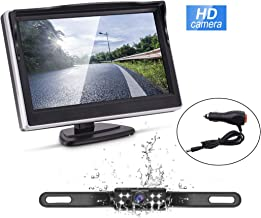 Wired Backup Camera and Monitor Kit,Waterproof Night Vision Rear View Camera Single 5 inch HD Back Up Camera for Car/RV/Truck/Pickup/Van/Camper Accfly