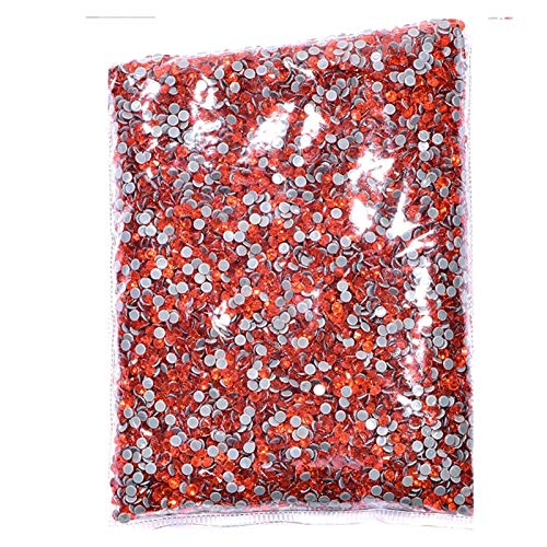 CHUNMA 14400 unids/Bolsa a Granel 41 Colores al por Mayor Mejor hotfix Rhinestones Crystal Hot Fix Rhinestone (Color : 35, Size : SS20 14400pcs)