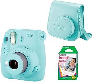 Fujifilm Instax Mini 9 - Kit de Cámara Fotográfica con Funda y Peliculas (10) Azul (Ice Blue)