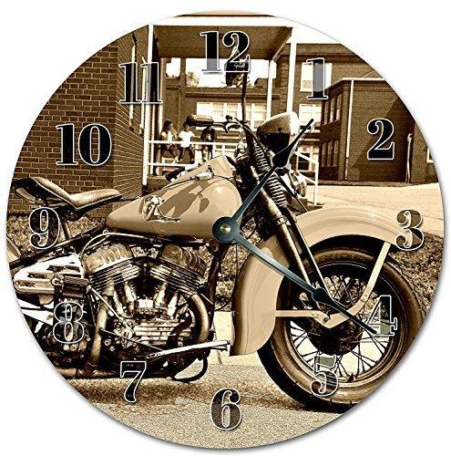 HSSS Vintage Harley Davidson Motorcycle Bike Orologio Decorativo Rotondo 30,5cm–Orologio da Parete in Legno