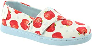TOMS Kids Girl's Alpargata (Toddler/Little Kid) White Once Upon A Farm Apple Print