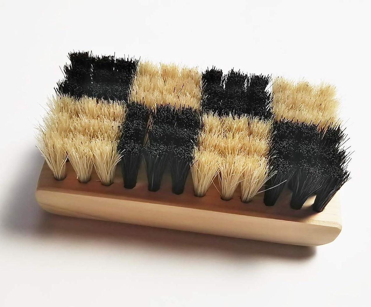 セント染料マーガレットミッチェル浅草まーぶる 弁慶 ボディブラシ 東京オリンピックエンブレムをイメージした 特殊植毛の市松模様