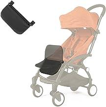 Reposapiés para carrito de bebé, extensión para piernas, accesorio para cochecito de bebé, tabla plegable y ligera de 6.5 pulgadas, de color negro