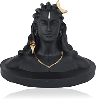 Nps Crafts Decorative Adiyogi Statue for Home, Office Resin Matte, Black 1 Piece ( 16 cm )