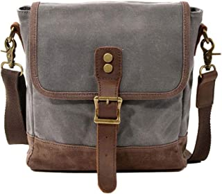 Neumora Small Messenger Bag Vintage Canvas Mini Shoulder Bags Crossbody Purse Waterproof for Men Women