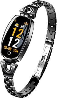 CQHY MALL Women Fashion Smart Sport Watches Bracelet Waterproof Health Tracker Bluetooth Fitness Trackers Activity Tracker Watch Multi-Function Watches-Heart Rate,Step,Calorie Counter
