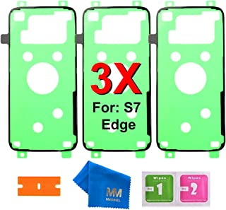 MMOBIEL 3 x Adhesivos Precortados Compatible con Samsung Galaxy S7 Edge G935 para Parte Delantera y Carcasa LCD Frontal