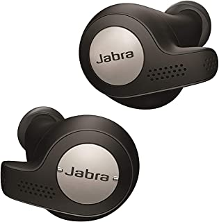 Jabra Elite Active 65t Earbuds - Passive Noise Cancelling Bluetooth Sport Earphones with Motion Sensors for Fitness Tracking - True Wireless Calls and Music - Titanium Black