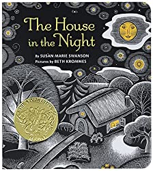 Picture of the board book The House in the Night by Susan Marie Swanson with link to purchase through Amazon
