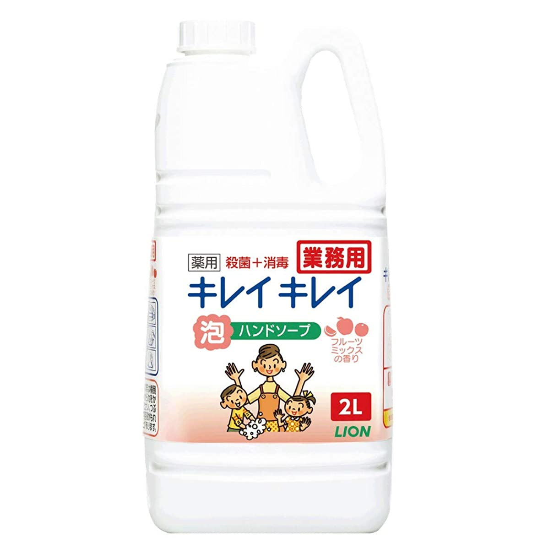 報酬の今遊び場【大容量】キレイキレイ 薬用泡ハンドソープ フルーツミックスの香り 2L