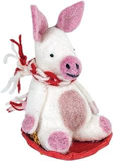 Wild Woolies Piggles The Pig Felt Ornament