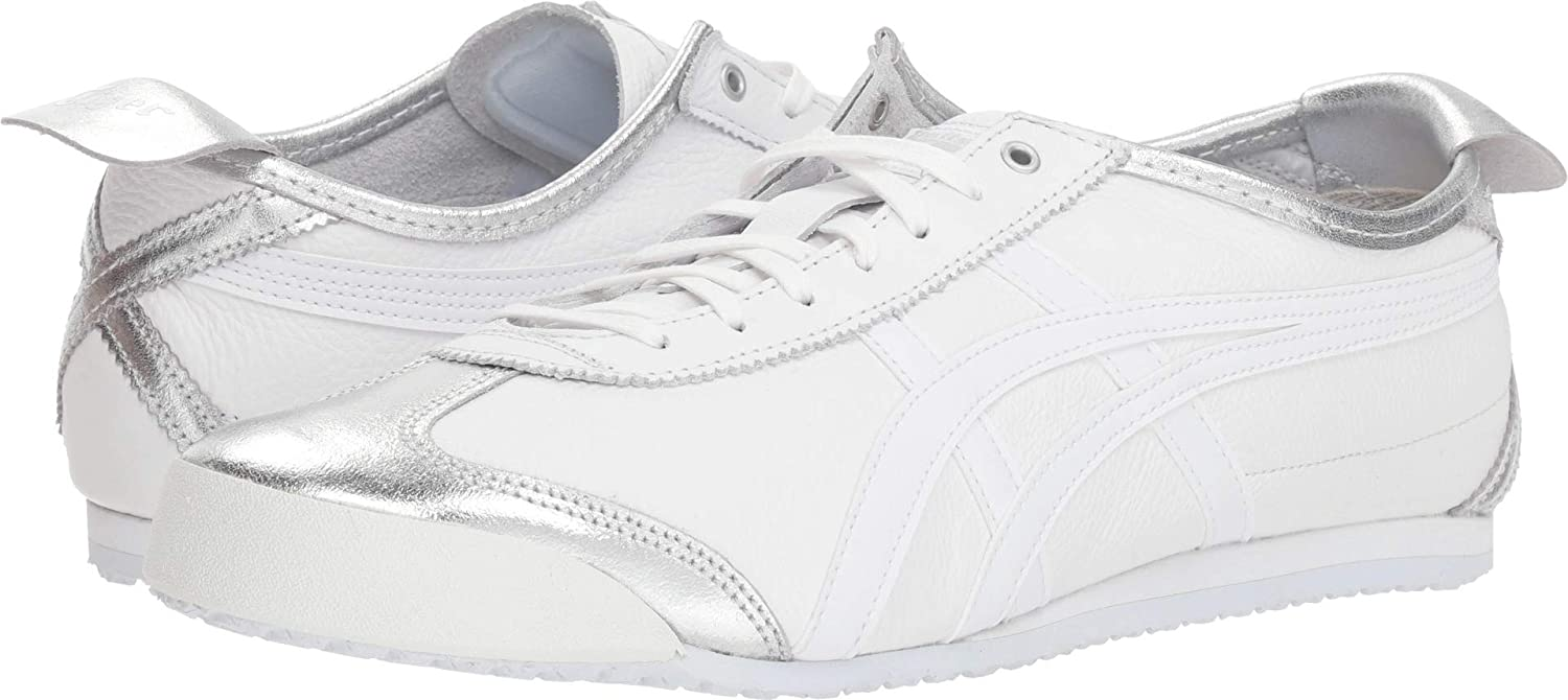 Onitsuka Tiger by Asics Unisex Mexico 66 Silver White 10 Women  +D409 D437 8.5 Men M US Medium