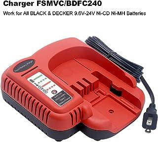 BDCCN24 BDFC240 Multi-Volt Battery Charger for Black+Decker FSMVC 18V 14.4V 12V 9.6V 24V NiCD&NiMH Battery Black & Decker Firestorm HPB18 A1718 FS18FL HPB14 HPB12 HPB24
