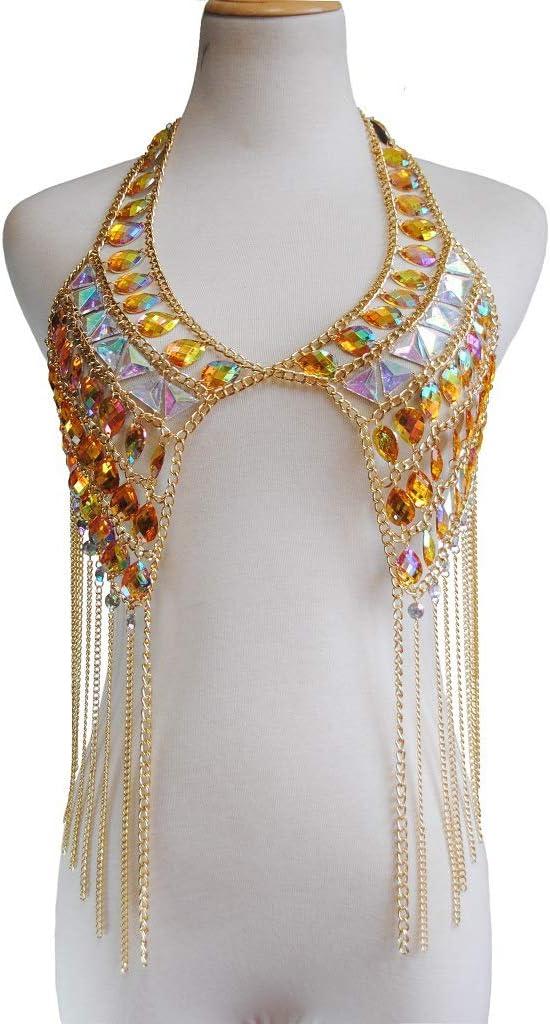 Gem Tassel Ms. Body Chain Necklace Bikini Beach Body Chain Pendant Pajamas Multi-Layer Chain
