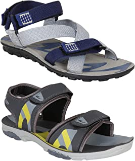 Earton Combo Pack of 2, Men floaters and Sandals