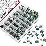 Hilitchi 700Pcs 24-Value Mylar Polyester Film Capacitor Assortment Kit - 0.22NF to 470NF / 100V