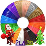 3D Pen Filament 320 Feet, 16 Colors,Each Color 20 Feet, Bonus 250 Stencils eBooks - 3D Pen/3D Printer PLA Filament 1.75mm, High-Precision Diameter and Kids Safe Refill