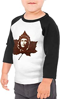 Kids Shirts Boys Cotton Lovely 3/4 Sleeve Shirts for Girls with Maple Che Guevara Graphic