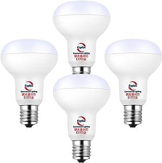 Explux 調光 LEDミニレフ電球 E17口金 50W相当 電球色 下方向・広配光タイプ 密閉器具対応 R50 小形電球 レフタイプ 50mm径 4個入