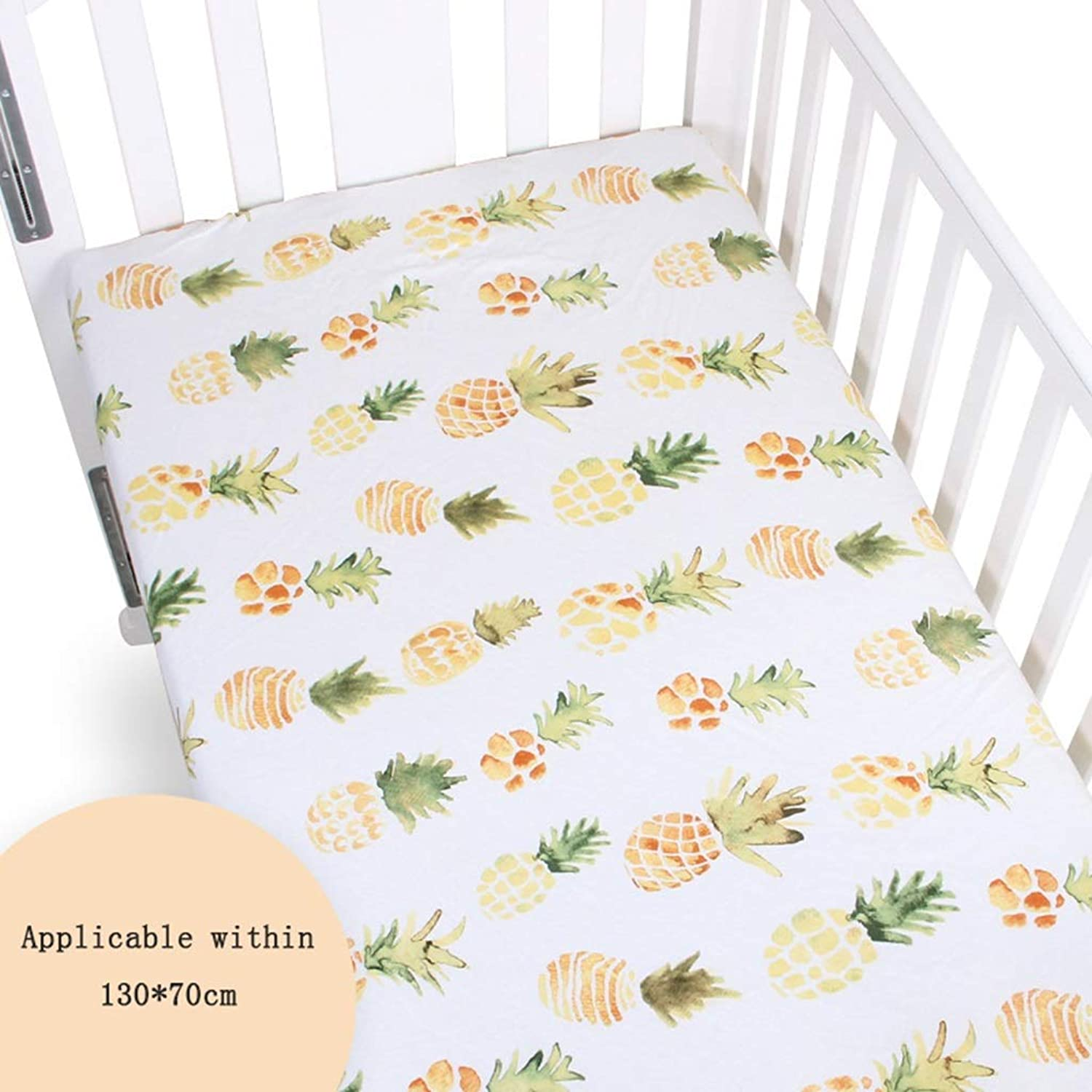Baby Summer Sleeping Mat  Ice Silk Cool Comfortable Breathable Foldable Bedding Crib Mattress Cartoon Print (color   A)