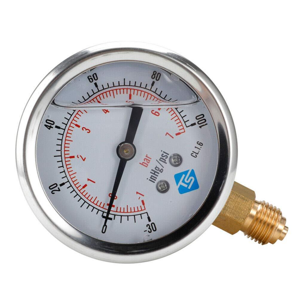Pumps lowest price Plumbing Vacuum Gauge S -1-2bar psi Steel Max 63% OFF -30-30hg Case