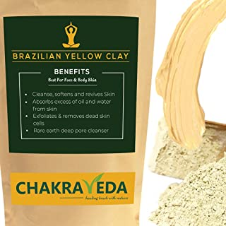 Braziliaanse gele klei, natuurlijk en zuiver, beste voor huid, 100g door ChakraVeda