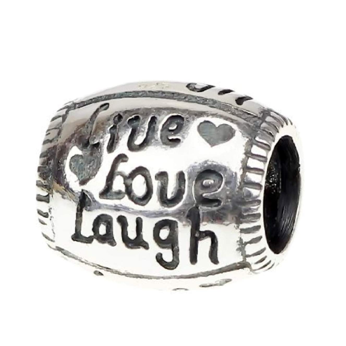 Solid Sterling Silver Laugh Bead Charm for Pandora Biagi Troll Chamilia Bracelets