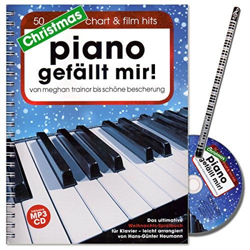 Christmas Piano gefällt mir! Ultimative Weihnachts-Spielbuch (50 besinnliche Hits) für Klavier in Spiralbindung mit CD von Hans-Günter Heumann - mit Piano-Bleistift