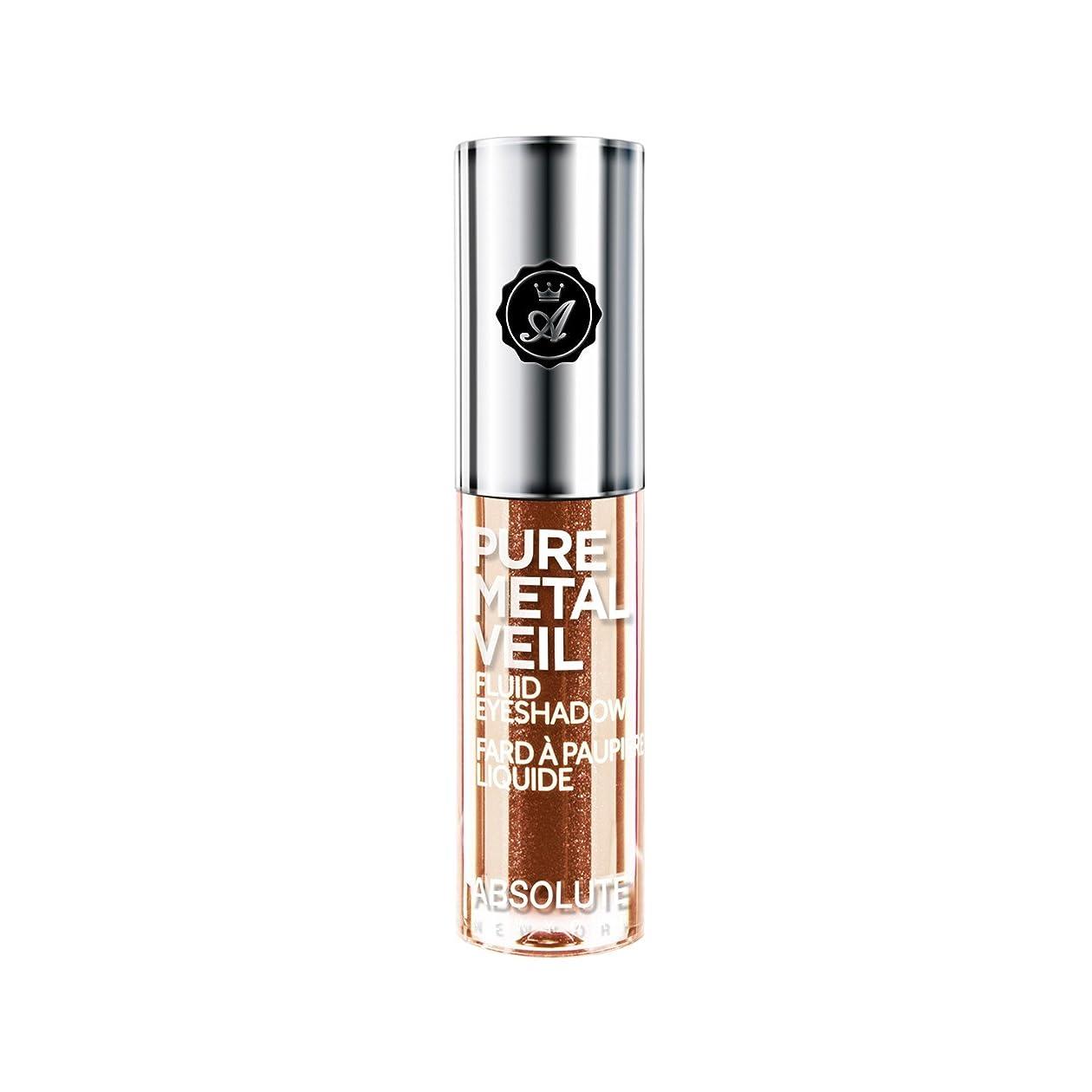 原稿レビュアー行商人(6 Pack) ABSOLUTE Pure Metal Veil Fluid Eyeshadow - Blingin Bronze (並行輸入品)