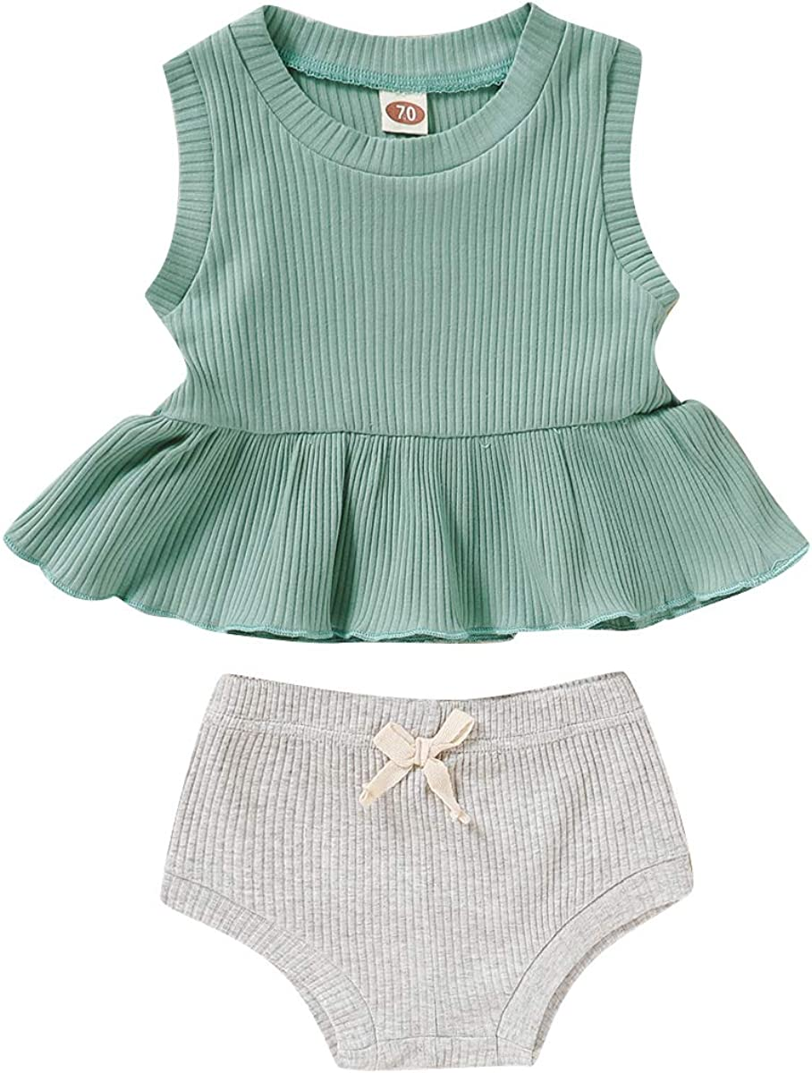 Baby Girls Short Clothes 2PCS T-Shi Outfits Newborn Over item Overseas parallel import regular item handling ☆ Summer