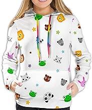 Star Baby Animal Face Womens Casual Long Sleeve Pullover Jacket Hoodie Sweatshirt