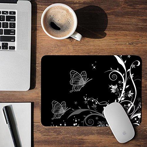 Sidorenko Gaming Mauspad | Mousepad | spezielle Oberfläche verbessert Geschwindigkeit und Präzision | Fransenfreie Ränder | rutschfest | Schwarz