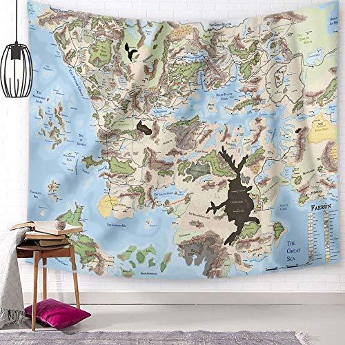 PPOU Mapa Retro Tapiz Transparente Tapiz Colgante de Pared Tapiz Dormitorio decoración Manta, decoración de Muebles A3 100x150cm