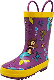 be96aded9e7b NORTY Waterproof Rubber Rain Boots for Girls & Boys - Toddlers & Big Kids -  Solid
