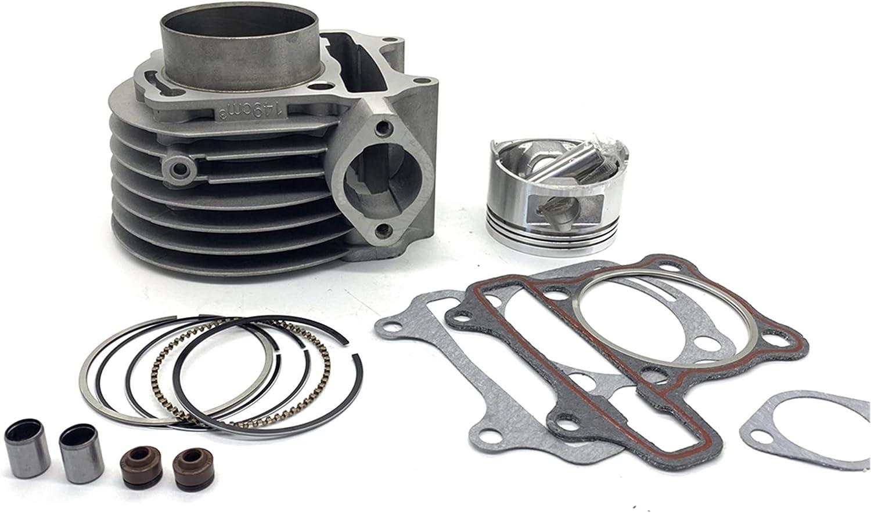 YONGFENG Engine Parts Kit de Cilindro Conjunto de Anillo de pistón de Cilindro de 57,4 mm Fit para 4 Stroke Scooter Moped ATV Quad Gy6 150 157 QMJ 1P57QMJ Engine Parts