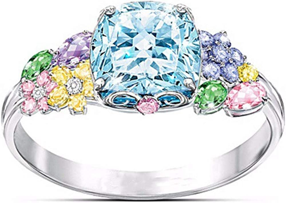 Jude Jewelers Candy Color Flower Style Cocktail Party Statement Anniversary Ring