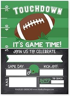 football party invitation ideas