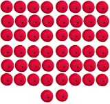 Yansanido Pack of 50 Red Foam 2'' Clown Noses Novelty Foam Clown Noses for Halloween Christmas Costume Party (50pcs)