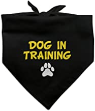 Graphics and More Dog in Training with Paw Print Dog Pet Bandana - Black