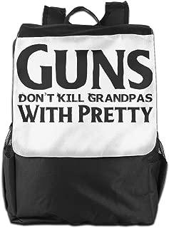 XIVEIER Design Guns Don't Kill Grandpas With Pretty Cool School Bags For Mans