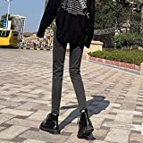 Jeans Jeans Ladies Cintura Alta Lápiz Negro Grueso Pantalones De Mujer Todo-Fósforo Jeans Ajustados Casual...